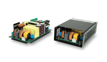 CUI's Baseplate-Cooled Ac-Dc Power Supplies Deliver 355 W at 93.5% Efficiency